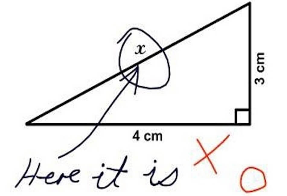 Funny Exam Answers-Find x