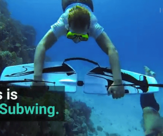 "This Wing Lets You ""Fly"" Underwater."