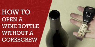 How To Open A Wine Bottle Without A Corkscrew
