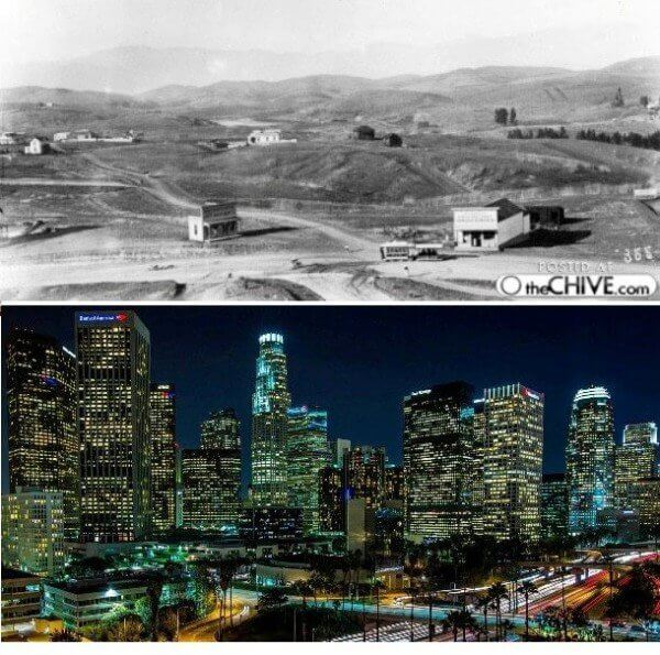 Los Angeles, California – 1878 and now