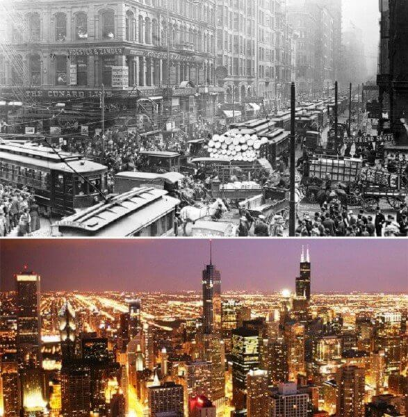 Chicago, Illinois – 1909 and now