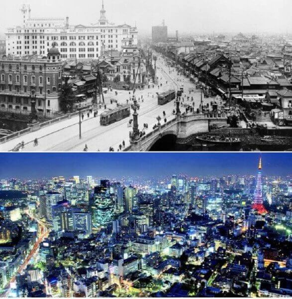 Tokyo, Japan – 1920´s and now