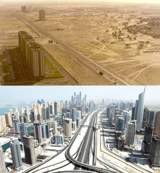 Dubai, United Arab Emirates – 1980´s and now