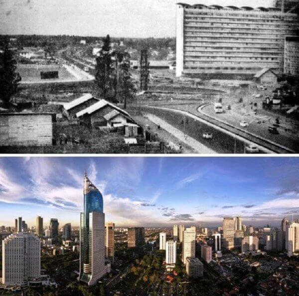 Jakarta, Indonesia – 1960 and now