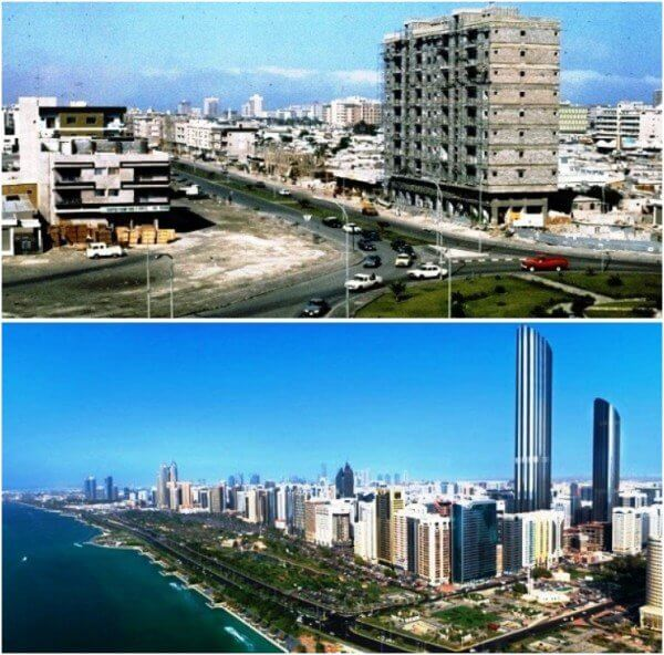 Abu Dhabi, United Arab Emirates – 1975 and now