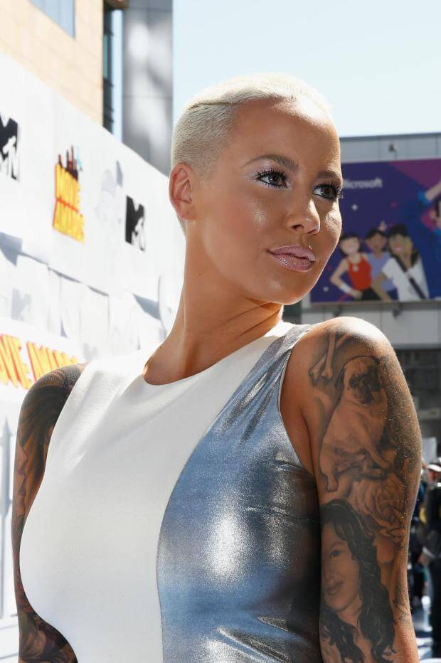 amber rose with hair-#1