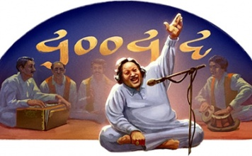 Google Doodle Celebrates Nusrat Fateh Ali Khan's 67th Birthday-Featured