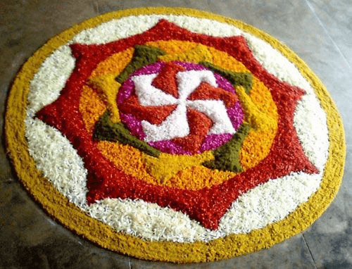 Simple Rangoli design for Diwali-1