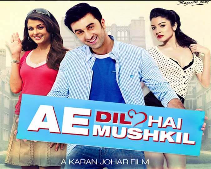 Upcoming bollywood movies 2016-Ae-Dil-Hai-Mushkil-Poster