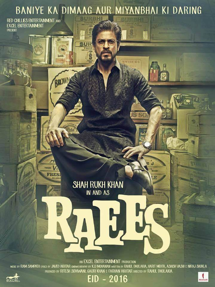 Upcoming bollywood movies 2016-raees