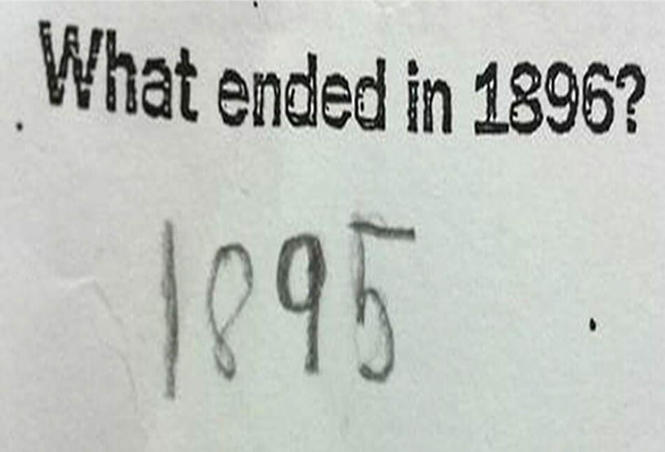Funny Exam Answers-Can you blame him.
