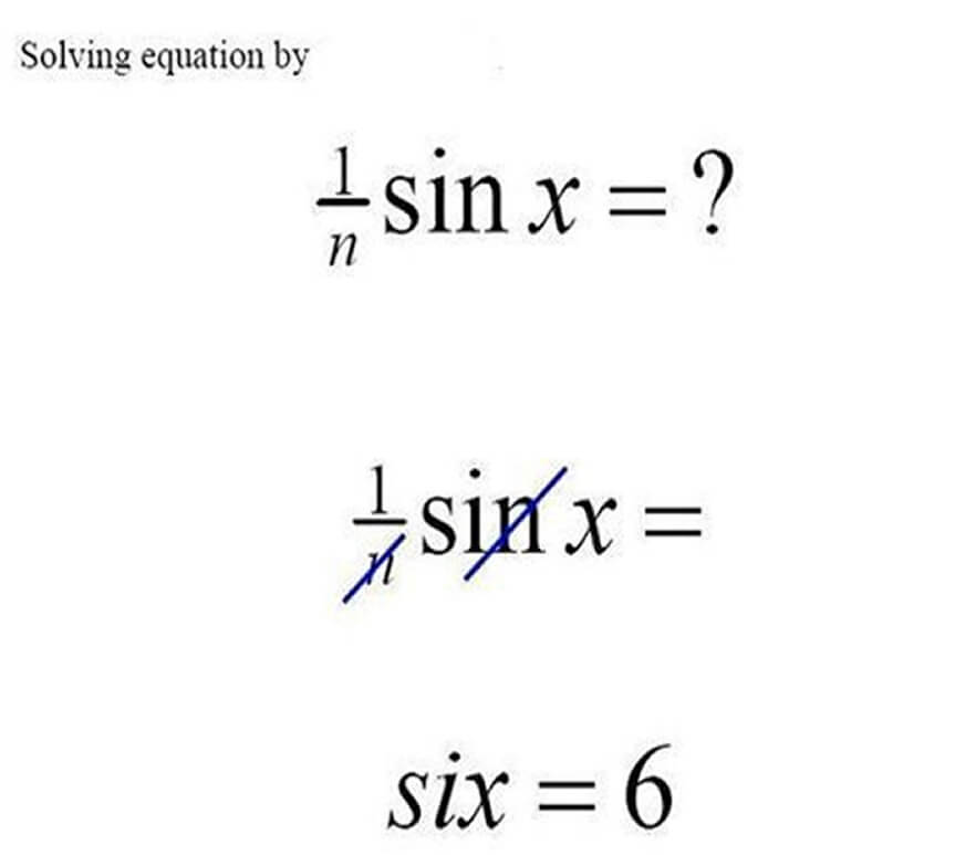 Funny Exam Answers-equation