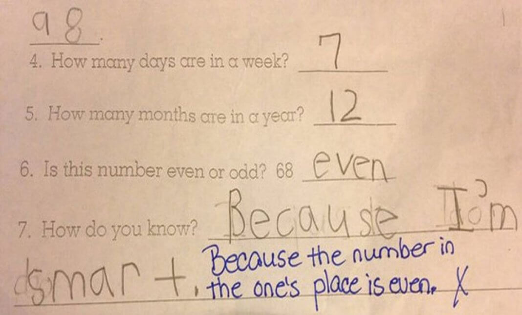 Funny Exam Answers- he is just SMART