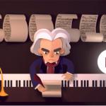 Google Doodle Celebrating Ludwig van Beethoven's 245th Year