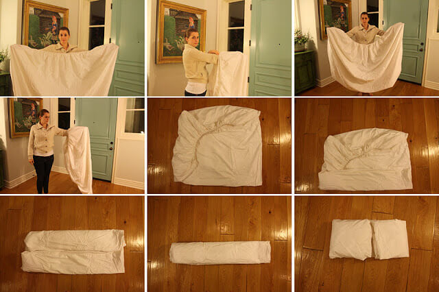 how to fold a fitting sheet
