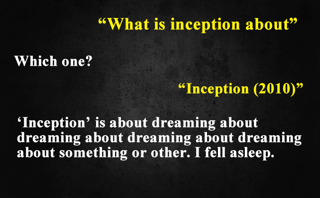 Funny Things To Ask Siri-What is Inception about