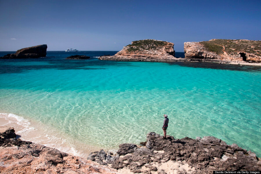 35 Places To Swim In The World's Clearest Water-Comino Island - Malta