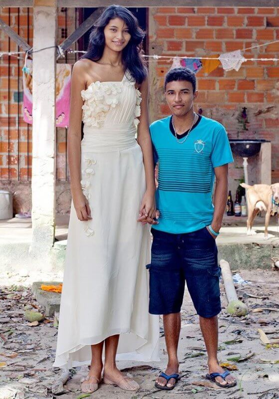 1 When The Tallest Girl In World First Met Francinaldo She Had Already Turned 16 And Possessed A Very Childish Behavior Used To Play Around