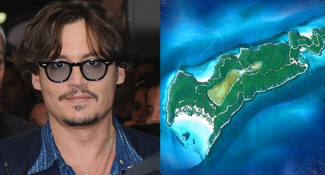 Most Expensive Private Islands Owned By Celebrities- Johnny Depp