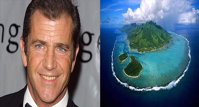 Most Expensive Private Islands Owned By Celebrities-Mel Gibson