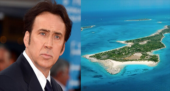 Most Expensive Private Islands Owned By Celebrities- Nicholas Cage