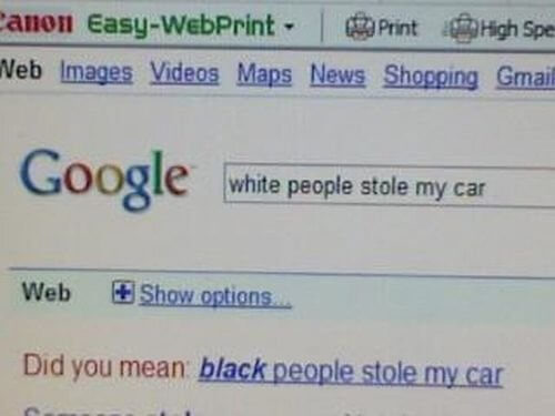 White people stole my car reality