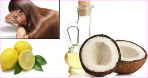 lemon juice with coconut oil to get rid of dandruff