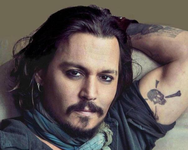 Johnny Depp Tattoos arm