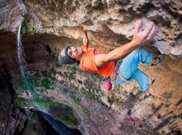 David Lama climbs in Lebanon