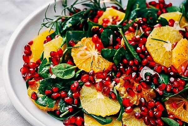 Pomegranate in salads