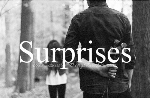 Surprises have a healthy relationship