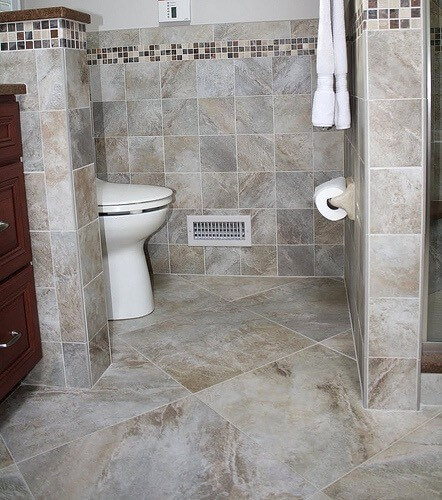 Hidden commode Remodel bathroom