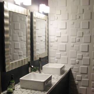 Moden bathroom Specialty tile
