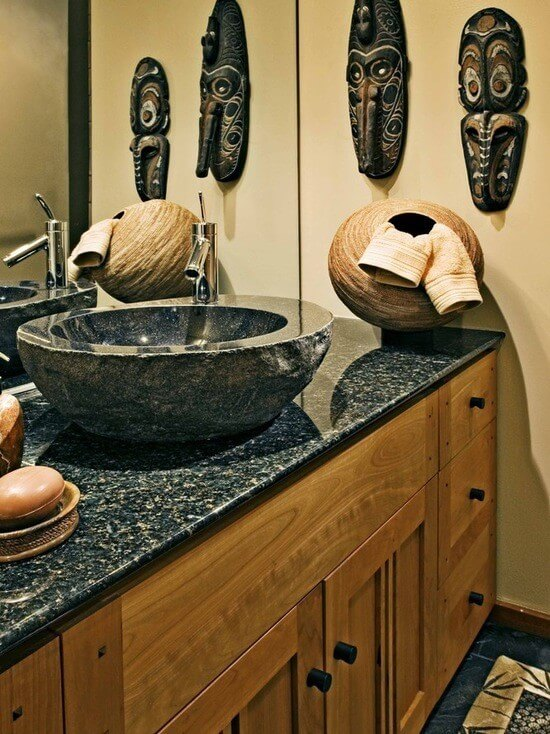 Vessel sink bathroom design