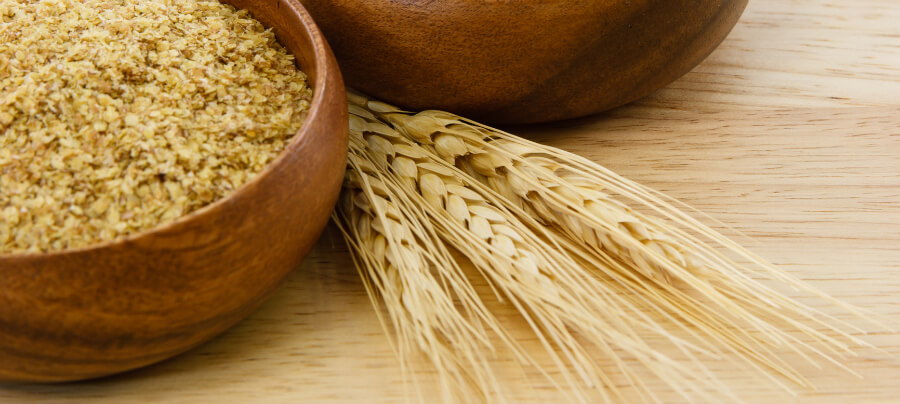 Wheat germ to remove wrinkles