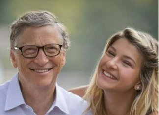 Phoebe Adele Gates with bill gates