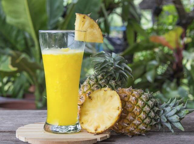 how to get rid of heartburn, pineapple juice