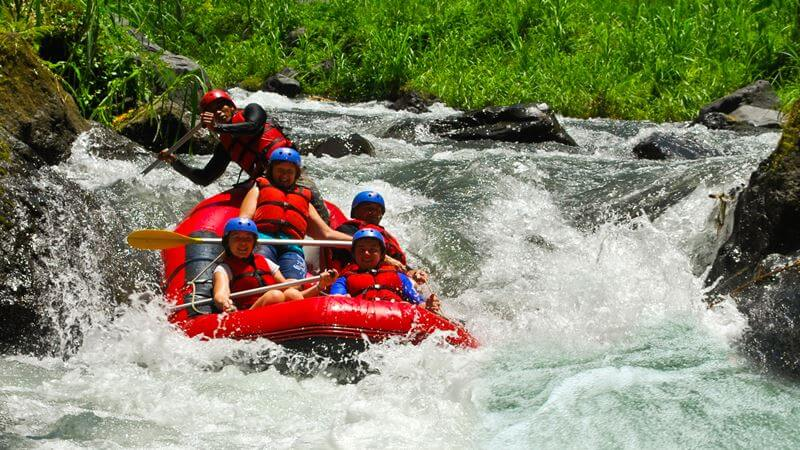 things to do in bali, rafting on Ayung River