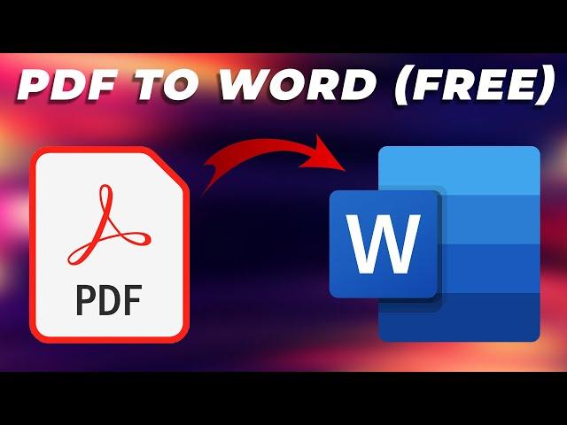 Convert PDF to Word Document