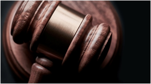 A wooden judge's gavel